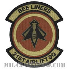 第21空輸隊(21st Airlift Squadron)[OCP/メロウエッジ/ベルクロ付パッチ]の画像