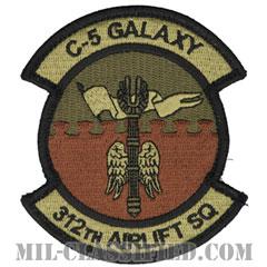 第312空輸隊(312th Airlift Squadron)[OCP/メロウエッジ/ベルクロ付パッチ]の画像