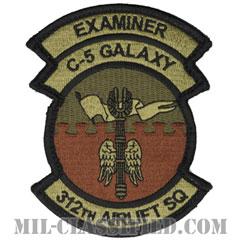 第312空輸隊 (イグザミナー:審査官)(312th Airlift Squadron, Examiner)[OCP/メロウエッジ/ベルクロ付パッチ]の画像