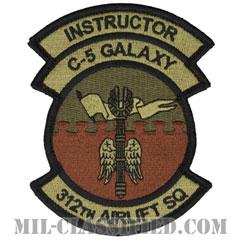 第312空輸隊 (インストラクター:指導者)(312th Airlift Squadron, Instructor)[OCP/メロウエッジ/ベルクロ付パッチ]の画像