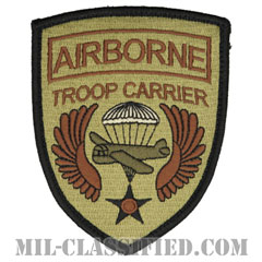 第37空輸隊 (エアボーン:空挺部隊)(37th Airlift Squadron, Airborne Troop)[OCP/メロウエッジ/ベルクロ付パッチ]の画像