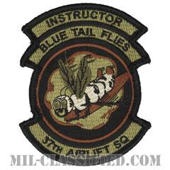 第37空輸隊 (インストラクター:指導者)(37th Airlift Squadron, Instructor)[OCP/メロウエッジ/ベルクロ付パッチ]の画像