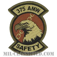 第375航空機動航空団(375th Air Mobility Wing)[OCP/メロウエッジ/ベルクロ付パッチ]の画像