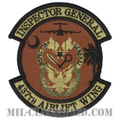 第437空輸航空団 (インスペクター:監察官)(437th Airlift Wing, Inspector General)[OCP/メロウエッジ/ベルクロ付パッチ]の画像