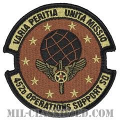 第452作戦支援隊(452nd Operations Support Squadron)[OCP/メロウエッジ/ベルクロ付パッチ]の画像