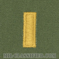少尉(Second Lieutenant (2LT))[サブデュード/階級章/パッチ/ペア(2枚1組)]の画像