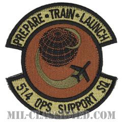 第514作戦支援隊(514th Operations Support Squadron)[OCP/カットエッジ/ベルクロ付パッチ]の画像