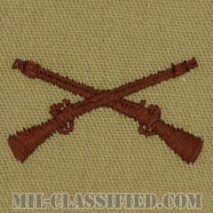 歩兵科章(Infantry Branch Insignia )[デザート/兵科章/パッチ/ペア(2枚1組)]の画像