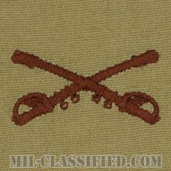 騎兵科章(Cavalry Branch Insignia)[デザート/兵科章/パッチ/ペア(2枚1組)]の画像