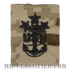 海軍最先任上等兵曹(Master Chief Petty Officer of the Navy)[NWU Type2(AOR1)/ユニフォーム・パーカー用スライドオン階級章]の画像