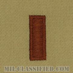 少尉(Second Lieutenant (2LT))[デザート/階級章/パッチ/ペア(2枚1組)]の画像
