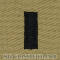 中尉(First Lieutenant (1LT))[デザート/階級章/パッチ/ペア(2枚1組)]の画像