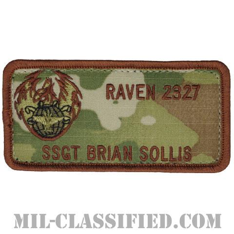 BRIAN SOLLIS軍曹 (航空機動軍団フェニックスレイヴン治安部隊)(SSGT BRIAN SOLLIS REVEN 2327)[OCP/ネームタグ/メロウエッジ/ベルクロ付パッチ]の画像