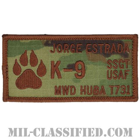 JORGE ESTRADA軍曹HUBA軍用犬(K-9, SSGT JORGE ESTRADA, MWD HUBA T731)[OCP/ネームタグ/メロウエッジ/ベルクロ付パッチ]の画像