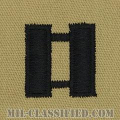 大尉(Captain (CPT))[デザート/階級章/パッチ/ペア(2枚1組)]の画像