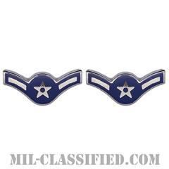 二等空兵(Airman)[カラー/空軍階級章/バッジ/ペア(2個1組)]の画像