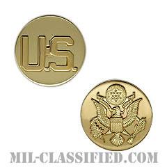 先任下士官指揮官章(Nominative Senior Enlisted Leader)[カラー/兵科章U.S.章セット(下士官用)/バッジ/ペア(2個1組)]の画像