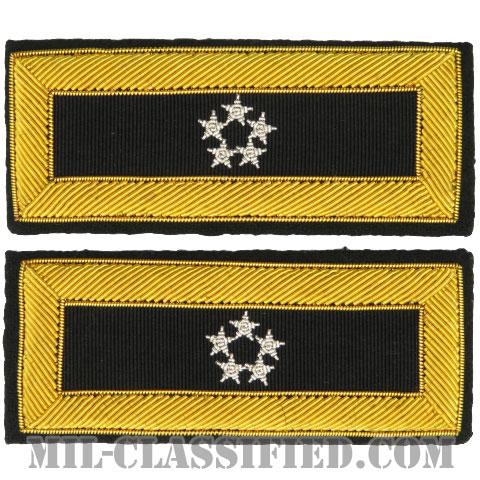 元帥(General of the Army)[ASU用ショルダーボード階級章(男性用)/金モール刺繍/ペア(2枚1組)]の画像