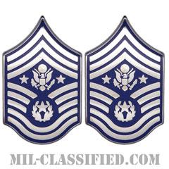 空軍最先任上級曹長(Chief Master Sergeant of the Air Force (CMSAF))[カラー/空軍階級章/バッジ/ペア(2個1組)]の画像