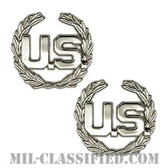 U.S.章(U.S. Letters Insignia)[カラー/空軍最先任上級曹長用U.S.章/バッジ/ペア(2個1組)]の画像