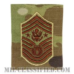 空軍最先任上級曹長(Chief Master Sergeant of the Air Force (CMSAF))[OCP/ゴアテックスパーカー用スライドオン空軍階級章]の画像