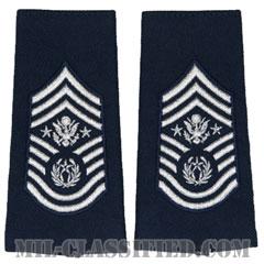 空軍最先任上級曹長(Chief Master Sergeant of the Air Force (CMSAF))[空軍ブルー/ショルダー階級章/ロングサイズ肩章/ペア(2枚1組)]の画像