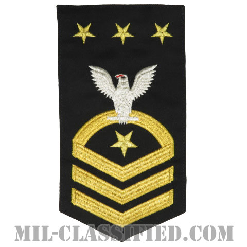 海軍最先任上等兵曹(Master Chief Petty Officer of the Navy)[ネイビーブルー/Male(男性用)/腕章(Rating Badge)階級章]の画像
