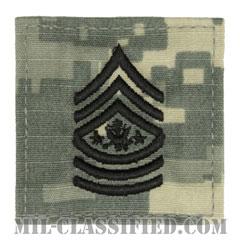 陸軍最先任上級曹長(Sergeant Major of the Army (SMA))[UCP(ACU)/階級章/ベルクロ付パッチ]の画像