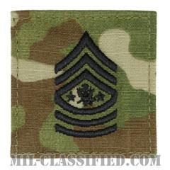 陸軍最先任上級曹長(Sergeant Major of the Army (SMA))[OCP/階級章/ベルクロ付パッチ]の画像