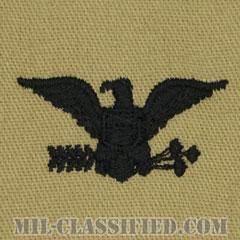大佐(Colonel (COL))[デザート/階級章/パッチ/ペア(2枚1組)]の画像