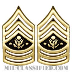 陸軍最先任上級曹長(Sergeant Major of the Army (SMA))[カラー/階級章/バッジ/ペア(2個1組)]の画像