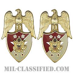 アメリカ合衆国陸軍参謀総長補佐官(Aide to the Chief of Staff of the Army)[カラー/兵科章(将校用)/バッジ/ペア(2個1組)]の画像