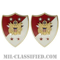 陸軍最先任上級曹長 (先任下士官顧問)(SMA/Senior Enlisted Advisor)[カラー/クレスト(Crest・DUI・DI)バッジ/ペア(2個1組)]の画像