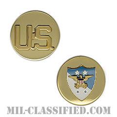 アメリカ統合参謀本部議長付先任下士官顧問章(SEAC)[カラー/兵科章U.S.章セット(下士官用)/バッジ/ペア(2個1組)]の画像
