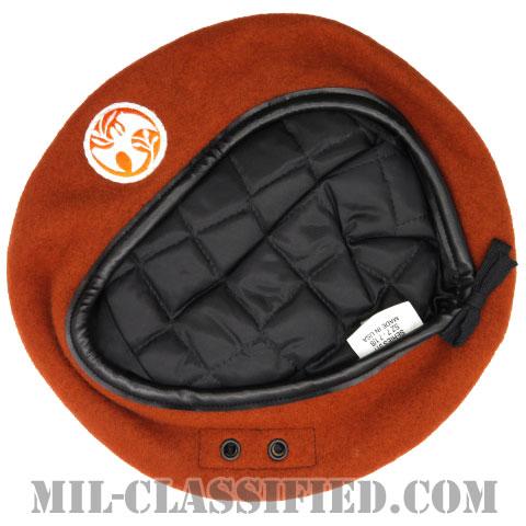 テラコッタベレー (多国籍軍監視団)(Terracotta Wool Beret, MFO)[ベレー帽/ベレーフラッシュ付/空気穴(アイレット)付]の画像