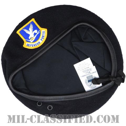 ダークブルーベレー (空軍警備隊 (セキュリティーフォース・下士官用))(Dark Blue Wool Beret)[ベレー帽/ベレーフラッシュ付/空気穴(アイレット)付]の画像