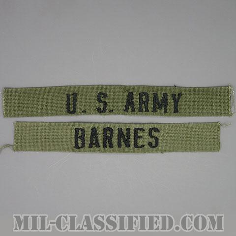 U.S.ARMY / BARNES[サブデュード/ネームテープ/パッチ/1点物(2枚セット)]の画像