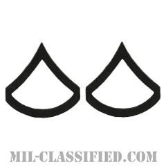 上等兵(Private First Class (PFC))[サブデュード(ブラックメタル)/階級章/バッジ/ペア(2個1組)]の画像