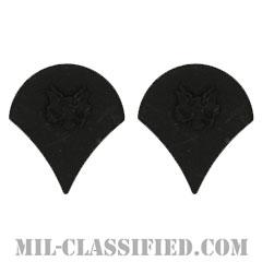特技兵(Specialist (SPC))[サブデュード(ブラックメタル)/階級章/バッジ/ペア(2個1組)]の画像