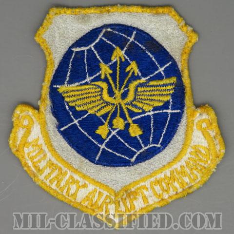軍事空輸軍団(Military Airlift Command (MAC))[カラー/カットエッジ/パッチ/1960s/4インチ規格/ローカルメイド/中古1点物]の画像