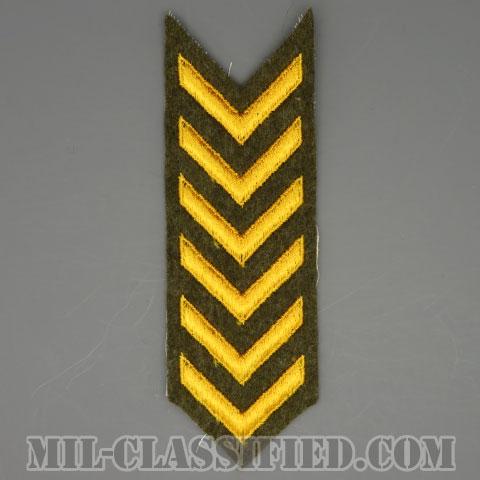 海外勤務(派遣)章 6連(勤続3年)(Overseas Service Bar)[ウール・フェルト生地/第1次世界大戦(WWI)/パッチ/1点物]の画像