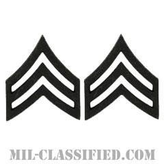 軍曹(Sergeant (SGT))[サブデュード(ブラックメタル)/階級章/バッジ/ペア(2個1組)]の画像