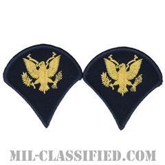 特技兵(Specialist (SPC))[カラー(ブルー)/階級章(男性用)/パッチ/ペア(2枚1組)]の画像