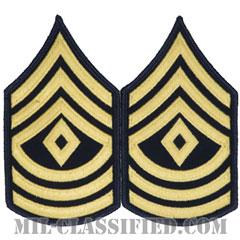 先任曹長(First Sergeant (1SG))[カラー(ブルー)/階級章(男性用)/パッチ/ペア(2枚1組)]の画像