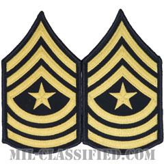 上級曹長(Sergeant Major (SGM))[カラー(ブルー)/階級章(男性用)/パッチ/ペア(2枚1組)]の画像
