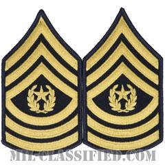 最上級曹長(Command Sergeant Major (CSM))[カラー(ブルー)/階級章(男性用)/パッチ/ペア(2枚1組)]の画像