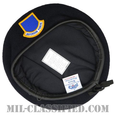 ダークブルーベレー (空軍警備隊 (セキュリティーフォース・将校用))(Dark Blue Wool Beret)[ベレー帽/ベレーフラッシュ付/空気穴(アイレット)付]の画像