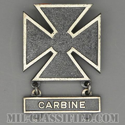 射撃技術章 (マークスマン)(Marksmanship Badge, Marksman)[カラー/1940s/燻し銀(純銀・STERLING)/バッジ(ピンバック)/中古1点物(バー1個付)]の画像