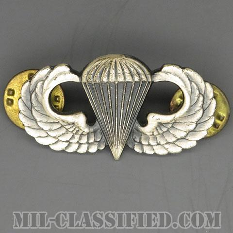 空挺章 (ベーシック)(Parachutist Badge, Basic)[カラー/1960s/燻し銀(銀張り・Silver Filled)/バッジ/中古1点物]の画像