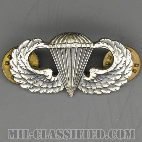 空挺章 (ベーシック)(Parachutist Badge, Basic)[カラー/1950s/燻し銀(純銀・STERLING)/バッジ/中古1点物]の画像